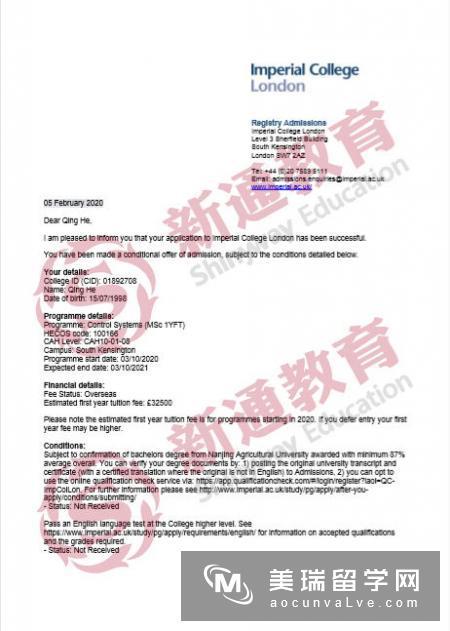 英国帝国理工学院医学硕士申请(附案例)